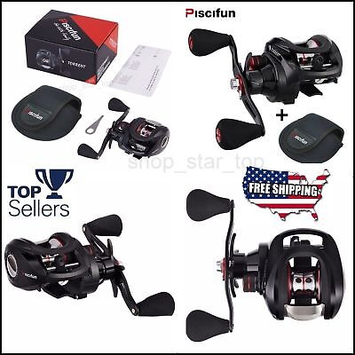 Piscifun Torrent Baitcasting Reel With Cover Bag Carbon Drag 7.1:1 Gear SET