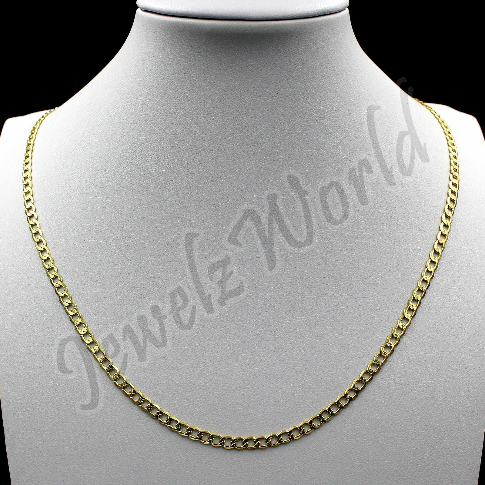 """10K Solid Yellow Gold Rope Figaro Cuban Link Chain Necklace 16""""- 30"""" Mens Womens 6"""