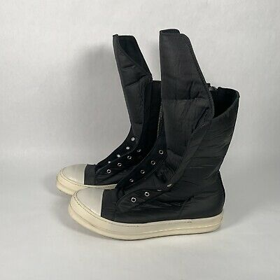 Rick Owens Ramones Waxed Laceless High Top Sneaker size 43