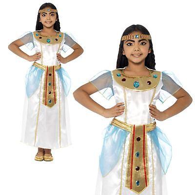 Kinder Mädchen Deluxe ägyptisch Königin Kleopatra Göttin Pharao Maskenkostüm