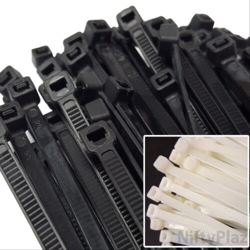 NiftyPlaza 10 Inch Cable Ties - 100 Pack Heavy Duty 75 LBS Nylon Wrap Zip Ties