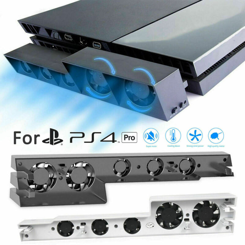 For Sony PS4 Pro Console Cooler Super Turbo USB Temperature Control Cooling Fan
