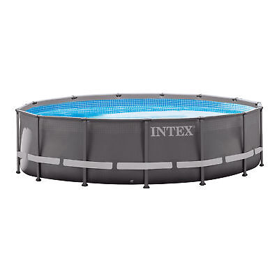 """Intex 14' x 42"""" Ultra Frame Above Ground Swimming Pool Set with Ladder & Pump"""