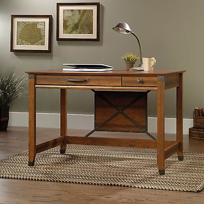 Vintage Wood Writing Desk  Computer Table  Drawer Secretary Drawer Cherry Finish Cherry Finish Secretary Desk