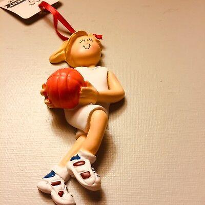Sarah/'s Attic SNOWONDERS Snow Man IND18 Figurine Holding Basket Ball Ornament