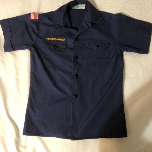 Official BSA Boy Scout Cub sht slv uniform shirt patches Y Medium no patches