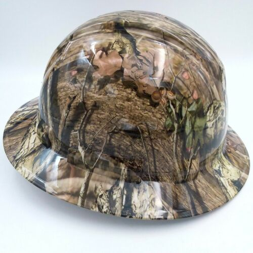 Hard Hat FULL BRIM custom hydro dipped , OSHA approved BREAK UP INFINITY CAMO 1
