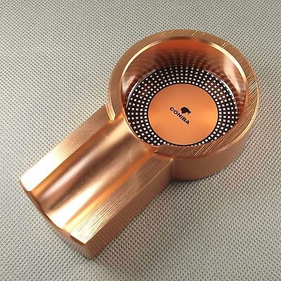 Cohiba Rose Gold Titanium Vintage Smoking Cigar Tobacco Cigarette Ashtray Holder