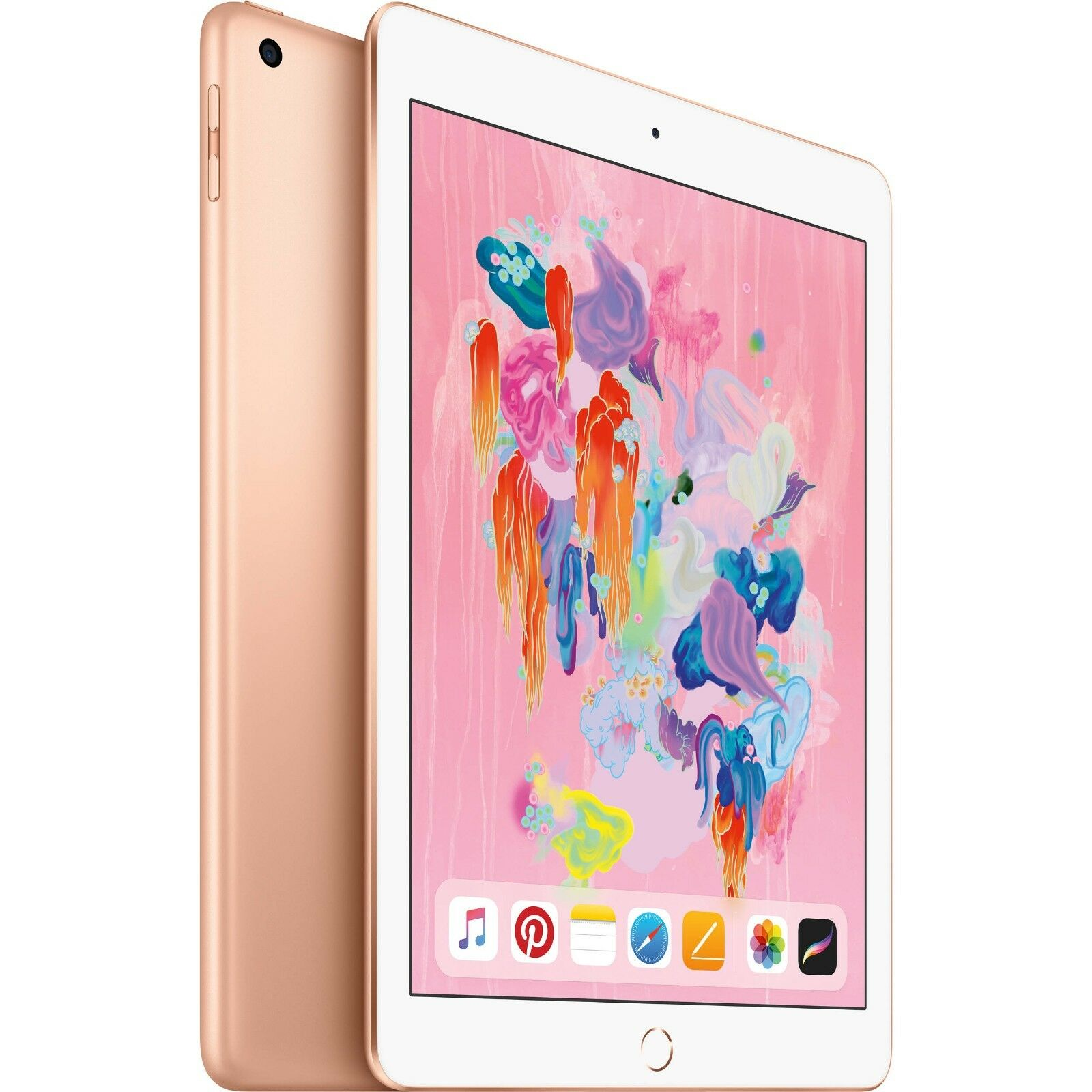 "Apple 9.7"" iPad 6th Gen 32GB Gold Wi-Fi MRJ2LL/A 2018 Model"