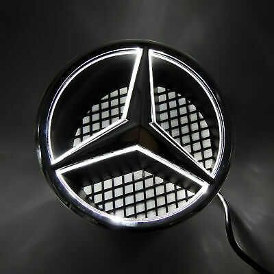 Sport Motors Car Led Front Grille Logo Emblem Light For Mercedes Benz Snap In