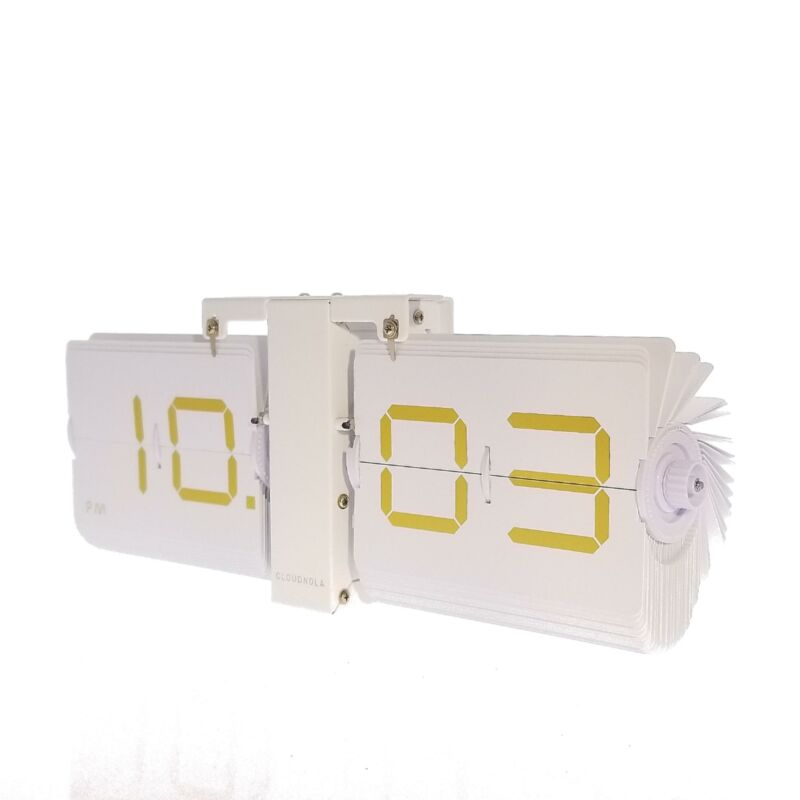 Cloudnola The Lux Flipping Out Clock, White