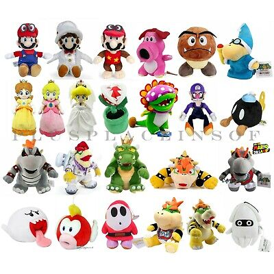 Best Xmas Holiday Kids Gift Super Mario Bros Plush Toy Koopa Bowser Mario