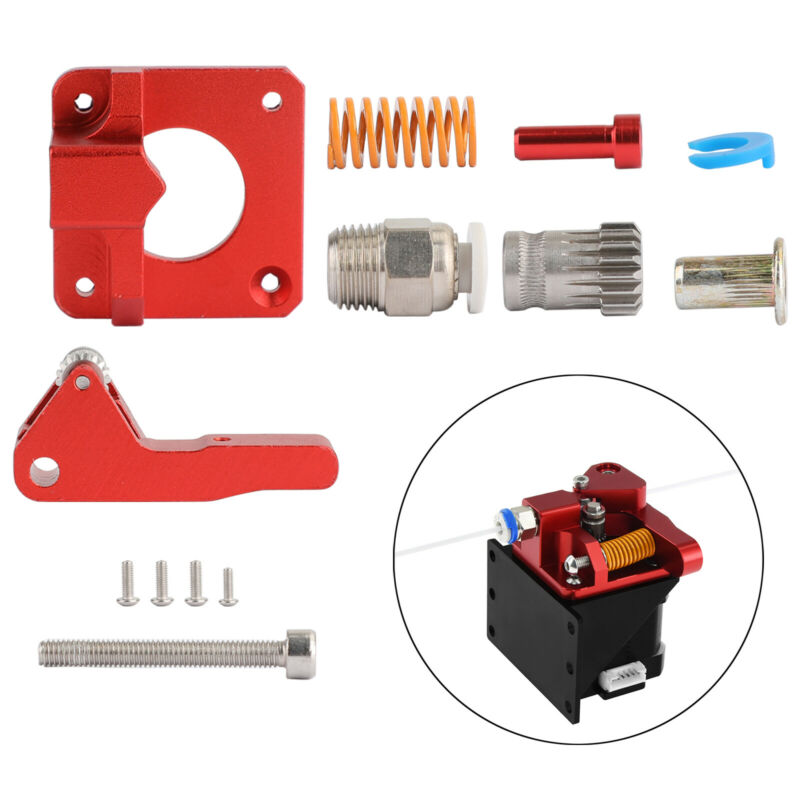 Upgrade Aluminum Frame Dual Gear MK8 Metal Extruder Kit for CR-10 10S ENDER3 USA