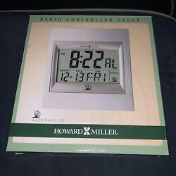 Howard Miller TechTime II Radio-Controlled LCD Wall/Table Alarm Clock 8-3/4W x