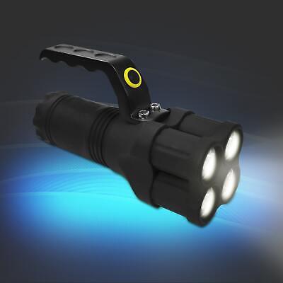Taschenlampe 4 LED Blinkfunktion Handstrahler Handscheinwerfer Griff 100lm Eaxus Taschenlampe Scheinwerfer Scheinwerfer