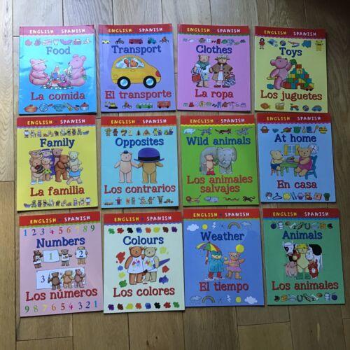 Children's Education My First Bilingual Book English Spanish Bundle 12 Books