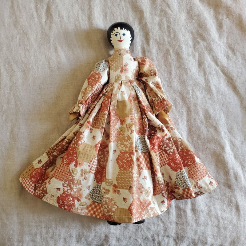 Vintage Peg Doll Signed RAS