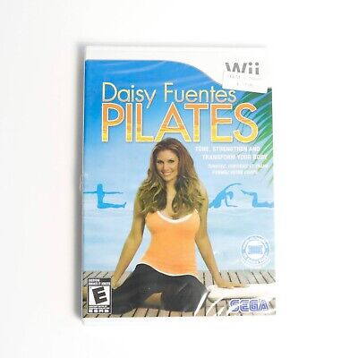 Nintendo Wii Pilates Daisy Fuentes Sealed Brand New disc yoga fitness health