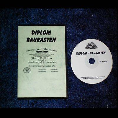 DIPLOM Baukasten (Schule,Ausbildung,Beruf) Reseller ***