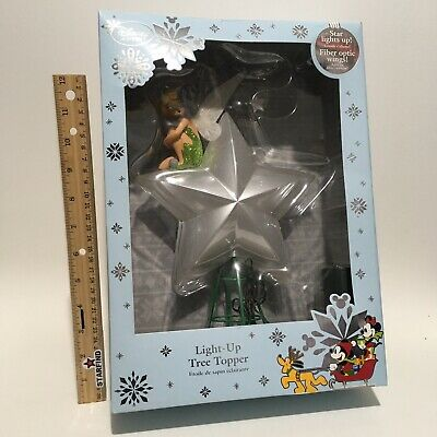 Disney Tinker Bell Light Up Tree Topper Star Lights Up Rare Christmas XMAS SEE..