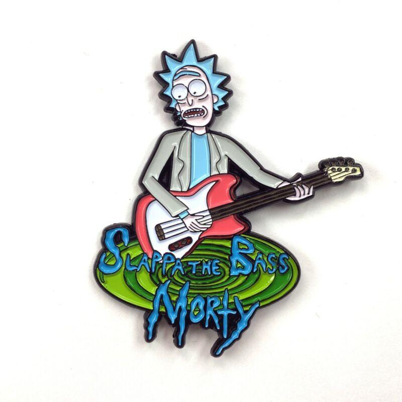 Rick and Morty Guitar Bass Pin Cartoon Heady Enamel Festival Hat and Lapel