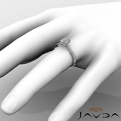 Bridge Accent Circa Halo Princess Diamond Engagement Pave Ring GIA E VS2 1.15Ct 2