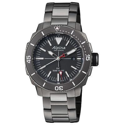 Alpina Seastrong Diver GMT Quartz Movement Grey Dial Men's Watches AL247LGG4TV6B