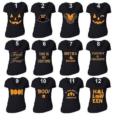 Women HALLOWEEN T shirt Costume Jack O lantern Shirt Don't Be a Basic Witch - Women's Halloween T Shirts