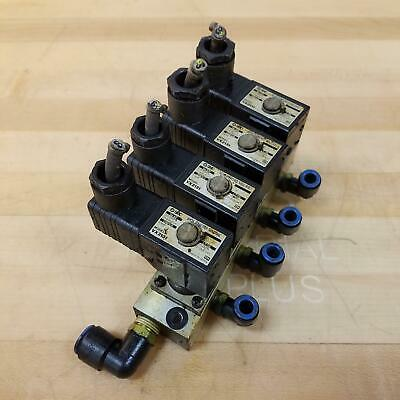 Smc Vx2131 Solenoid Valve Assembly Manifold Block - Used