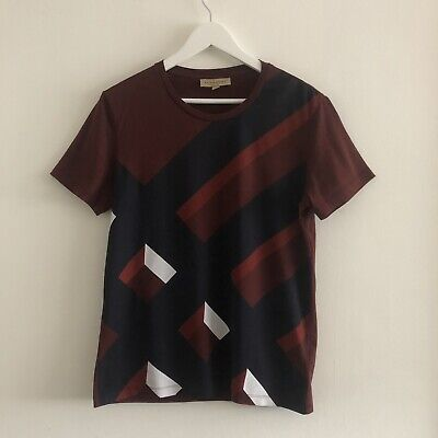 Burberry T-Shirt Small. Large Check Graphic Print. New - Never Worn.