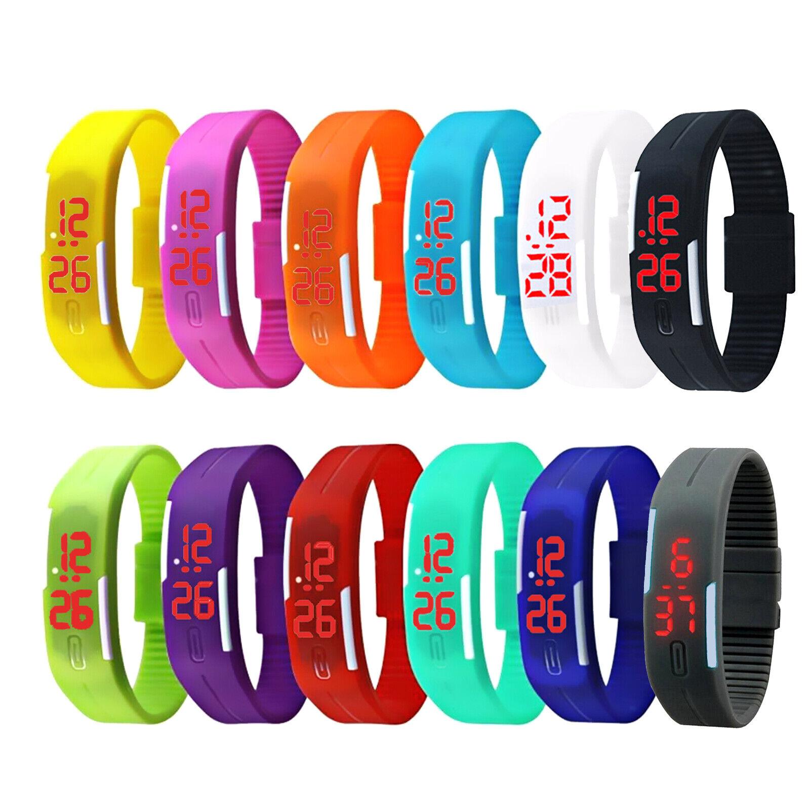 LED Armbanduhr Kinderuhr Silikon Watch Uhr Sport Digital Herren Damen Unisex