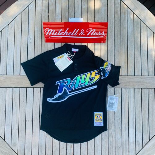 Mitchell & Ness Wade Boggs 1998 Authentic Mesh BP Jersey Tampa Bay Rays