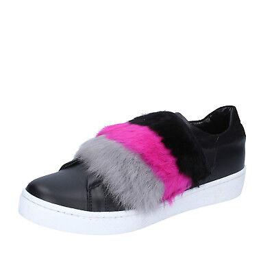 women's shoes ISLO ISABELLA LORUSSO 7 (EU 40) sneakers black leather BZ213-E
