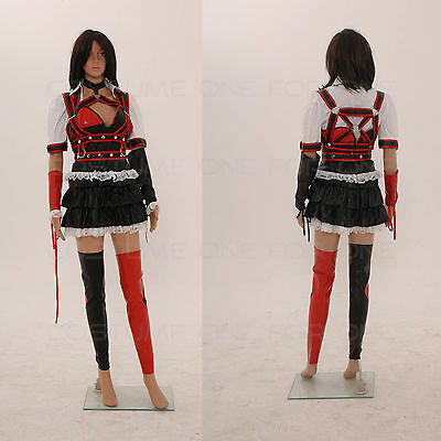 Batman Arkham Asylum Harley Quinn Fancy Dress Women Cosplay Costume Tailored