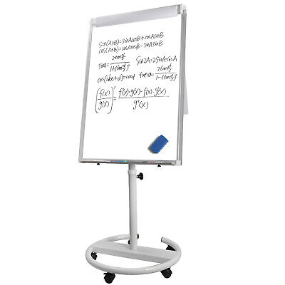 36x25 Mobile Dry Erase Magnetic Mobile Height Adjustable White Board Wwheels