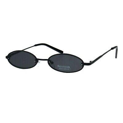 Small Skinny Sunglasses Oval Rims Behind Lens Womens Fashion UV (Small Ladies Sunglasses)