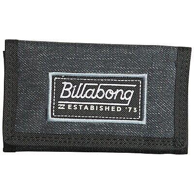 BILLABONG MENS WALLET.ATOM TRIFOLD BLACK HOOK LOOP CREDIT CARD MONEY PURSE 9S 2 (Billabong Card Wallet)