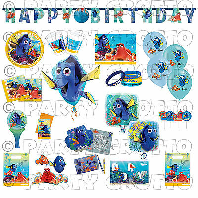 FINDING DORY Nemo Fish Birthday Party Supplies Tableware Decorations (Finding Nemo Party Decorations)