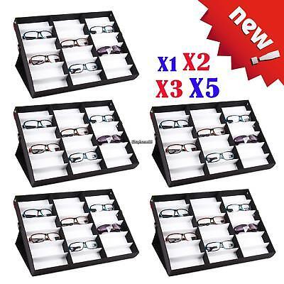 1018 Compartment Eyeglass Sunglasses Storage Display Grid Stand Case Box Holder