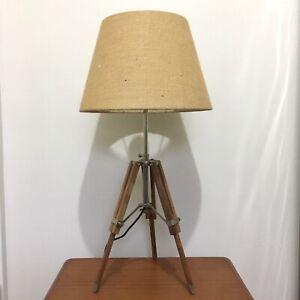 Retro Tripod Lamp Vintage Height Adjustable Floor Desk