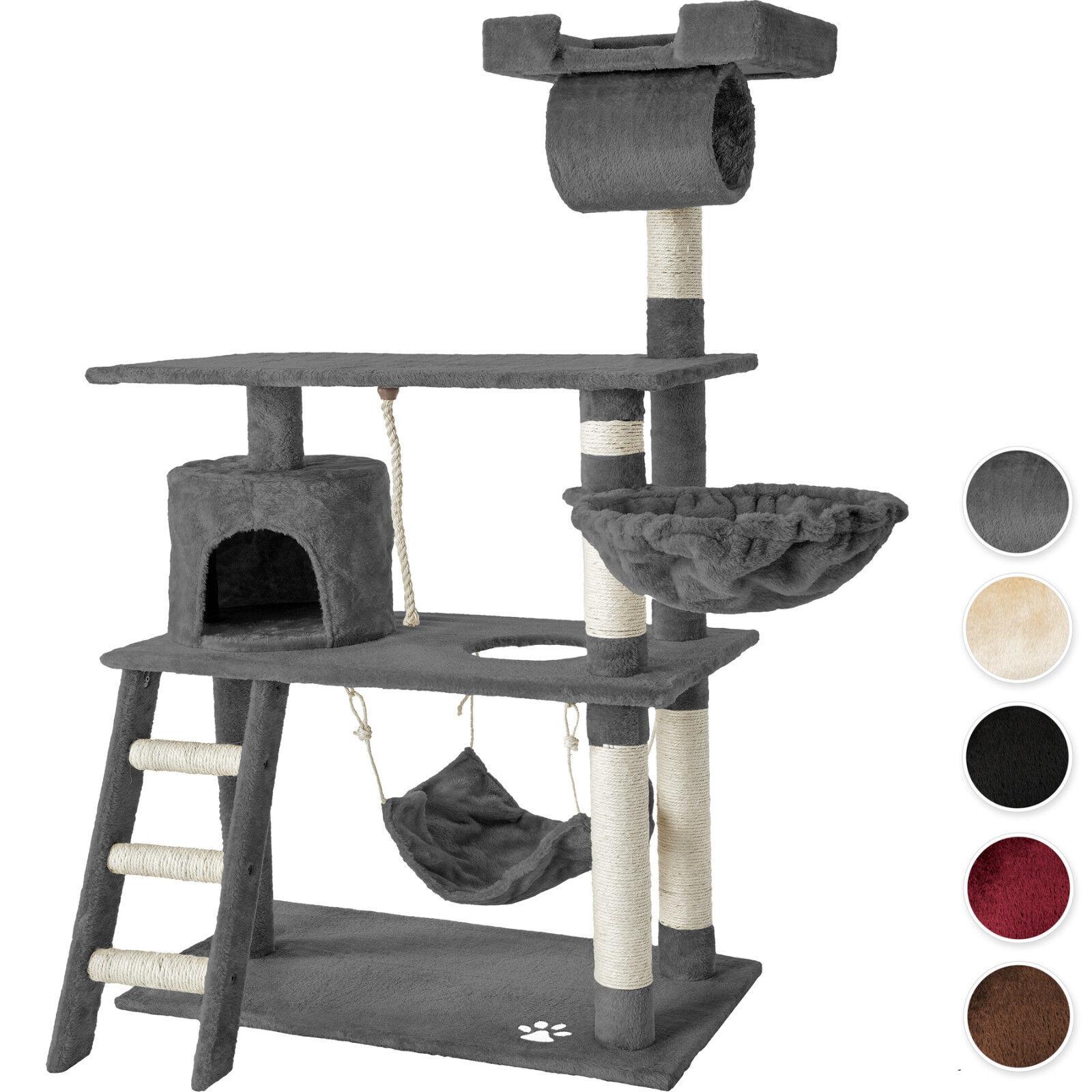 Tiragraffi per gatti 141 cm sisal albero gatto gioco palestra con amaca