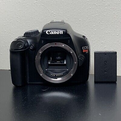Canon Rebel T3 / 1100D Black Body and Battery - Free Shipping