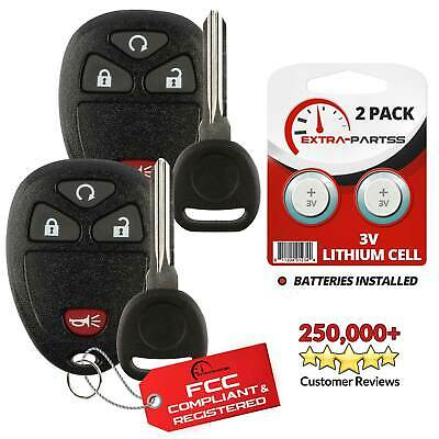 2 For 2007 2008 2009 2010 2011 2012 2013 Chevrolet Silverado Remote Fob + Key