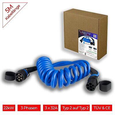 Spiral EV Ladekabel Typ2 von Sinpross   32A   3 Phase   22kW   IP55  8m