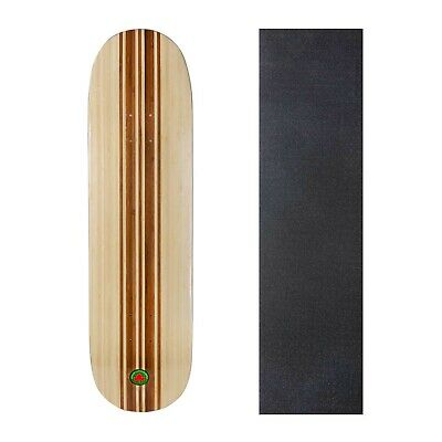 "Rekon Bamboo 8"" 8.25"" 8.5"" Skateboard Deck with High Grit Grip Tape"