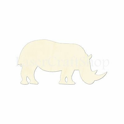 Safari Animal, Rhino, Wooden Cutout Shape, Tags Ornaments Laser Cut #1025