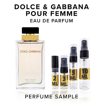Dolce and Gabbana Pour Femme EDP Perfume Sample Vial Travel Purse Size Spray (D&g And Dolce And Gabbana)
