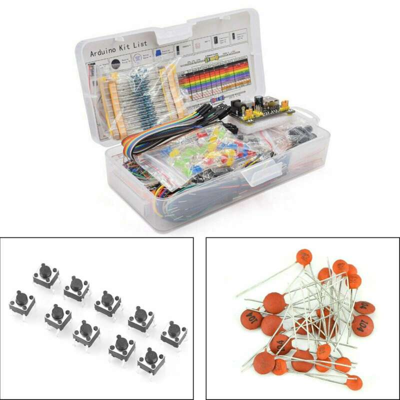 Electronics Component Basic Starter Kit w/830 Tie-Points Breadboard Resistor
