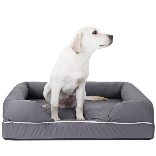 Dog Bed Orthopedic Memory Foam Medium Firmness Pillow Waterproof Liner Safe Beds