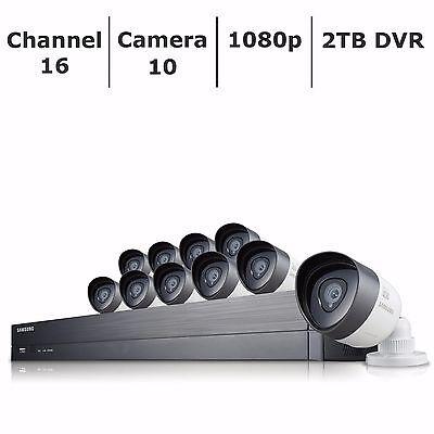 Samsung 16 Channel | 10 Camera 1080p FHD Security System w/ 2TB HDD DVR - NEW